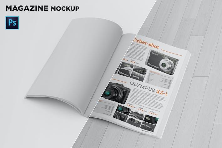 Thumbnail for Magazine Mockup Folded Page