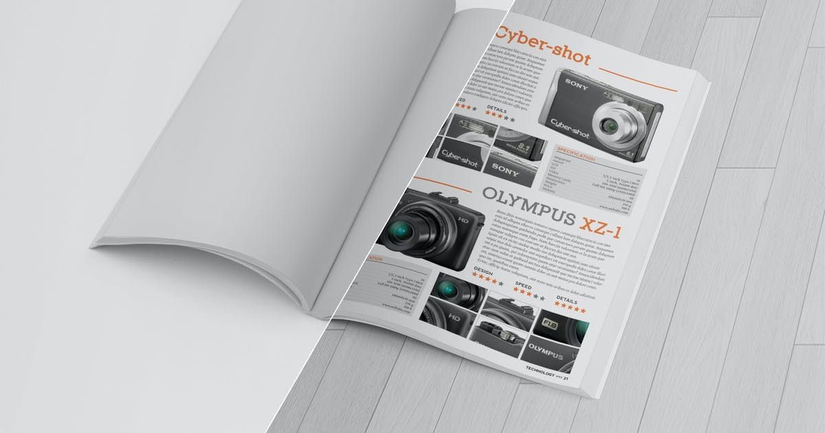 Download Magazine Mockup Folded Page by andre28