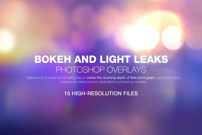 Thumbnail for Bokeh & Light Leaks Backgrounds 02