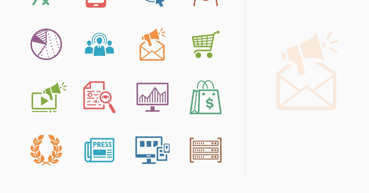Download Colored SEO & Internet Marketing Icons - Set 3 by introwiz1