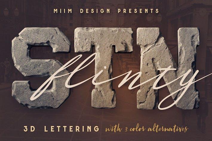 Thumbnail for FlintyStone - 3D Lettering