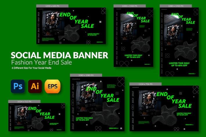 Thumbnail for Clothings Sale – Social Media Banner Template