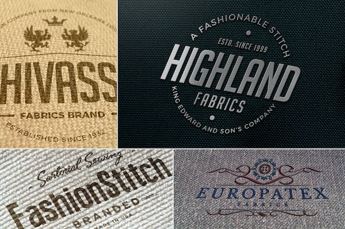 Thumbnail for Impressive Fabric Logo Mockups