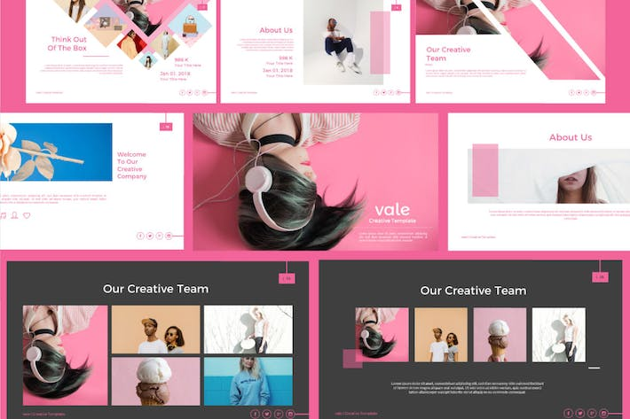 Thumbnail for Vale Creative Powerpoint Template