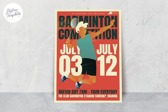 Thumbnail for Badminton Poster Template