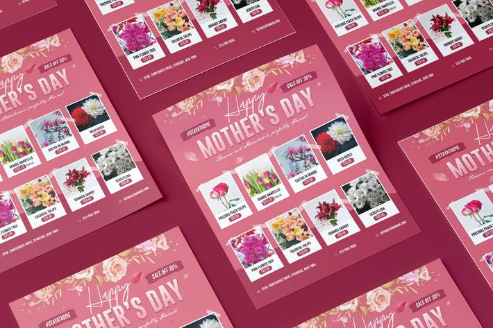 Thumbnail for Mother's Day supermarket flyer PSD template