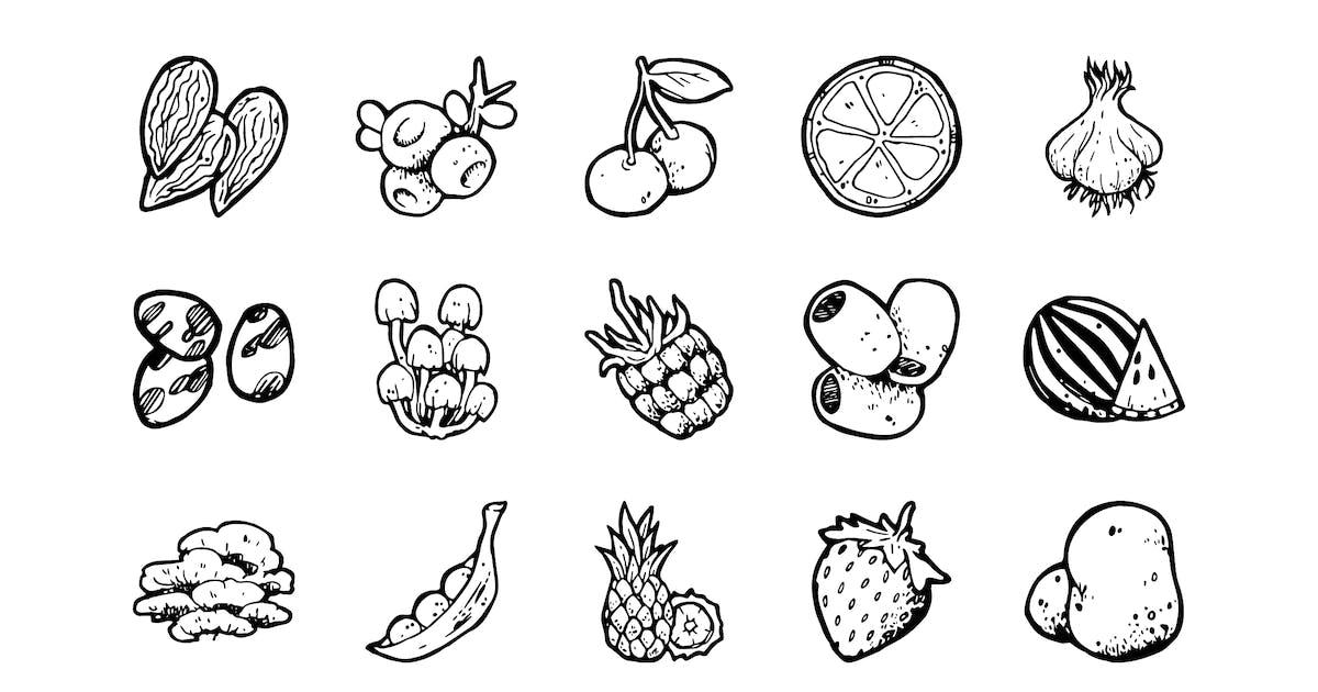 Download 54 Food Hand-drawn icons by polshindanil