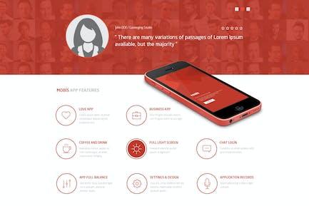 Mobis - App Landing PSD Page