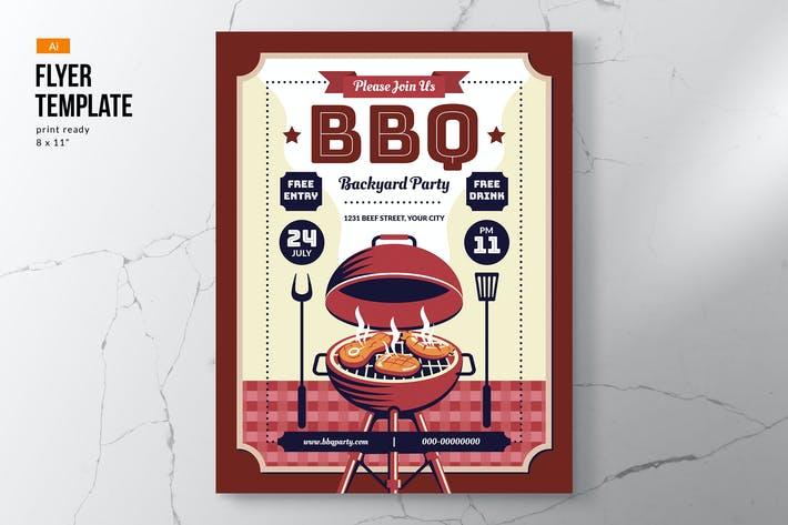 Thumbnail for Barbeque Party Festival Flyer Template