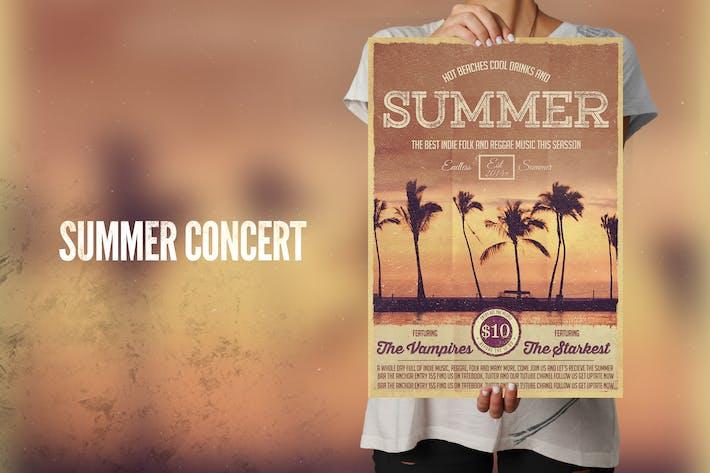 Thumbnail for Summer Concert Flyer Poster