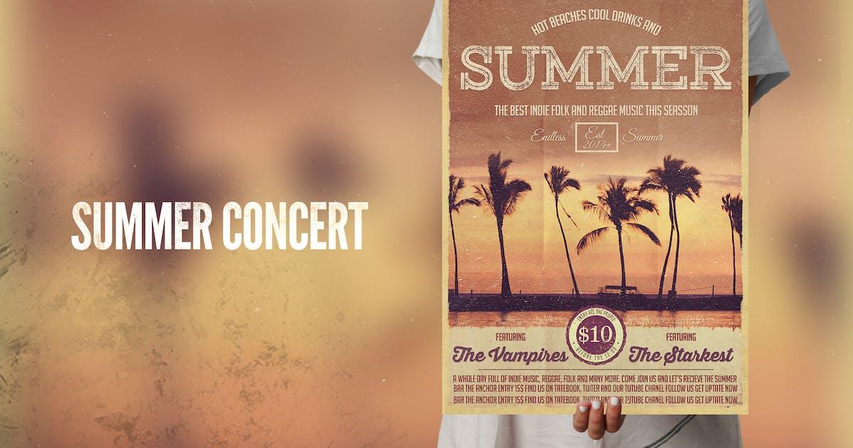 Download Summer Concert Flyer Poster by RetroBox