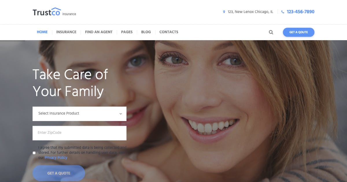 Download Insurance Agency, Finance & Business WP Theme by AncoraThemes