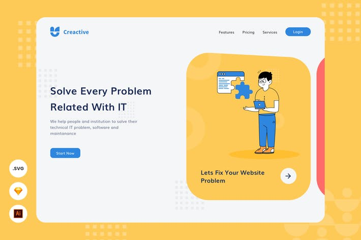 Thumbnail for IT Problem Solver - Website Header - Illustration