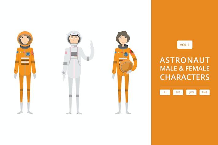 Astronaut - Männliche & Weibliche Charaktere Vol.1
