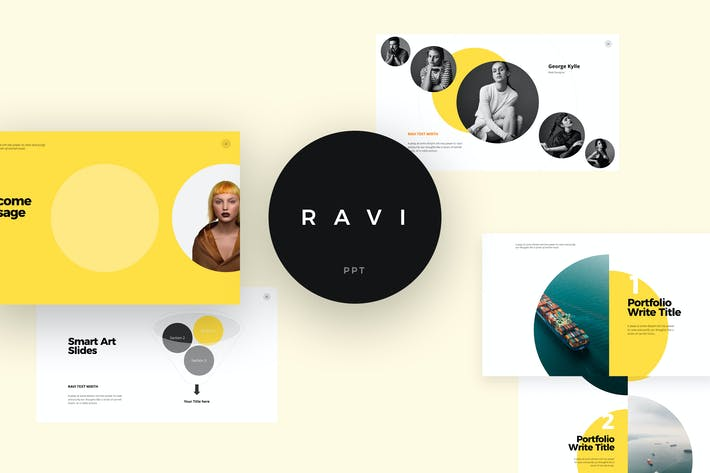 Thumbnail for RAVI Powerpoint Template