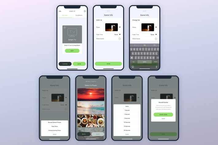 Thumbnail for Wake Up Info Smarthome Mobile UI - FP