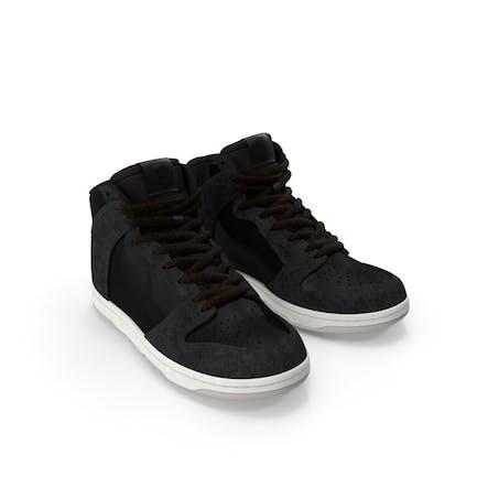 Schwarze Skateboarding Schuhe