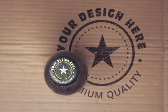Thumbnail for Paperboard Beer Cap Mockup