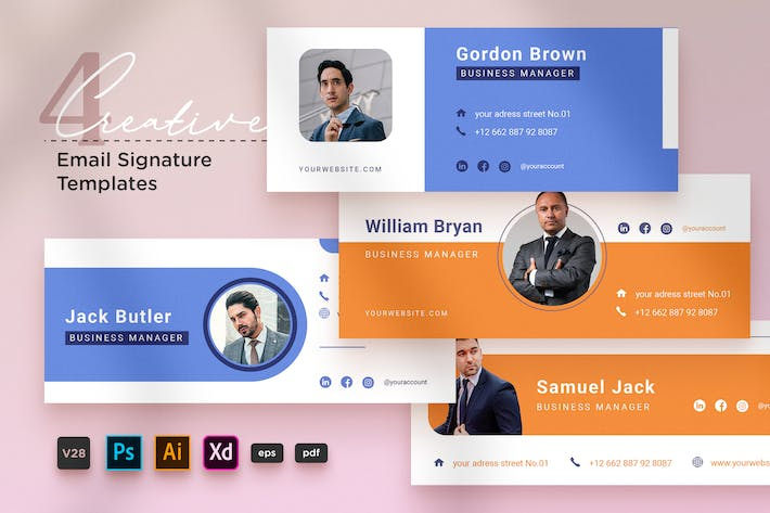 Creative Email Signature Vol.28 Business Manager
