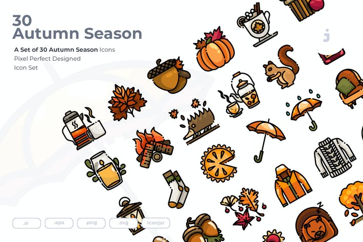 Thumbnail for 30 Herbst-Saison Icons