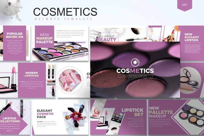 Thumbnail for Cosmetics -  Keynote Template