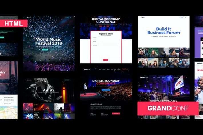 Thumbnail for Grand Conference | Event HTML Template