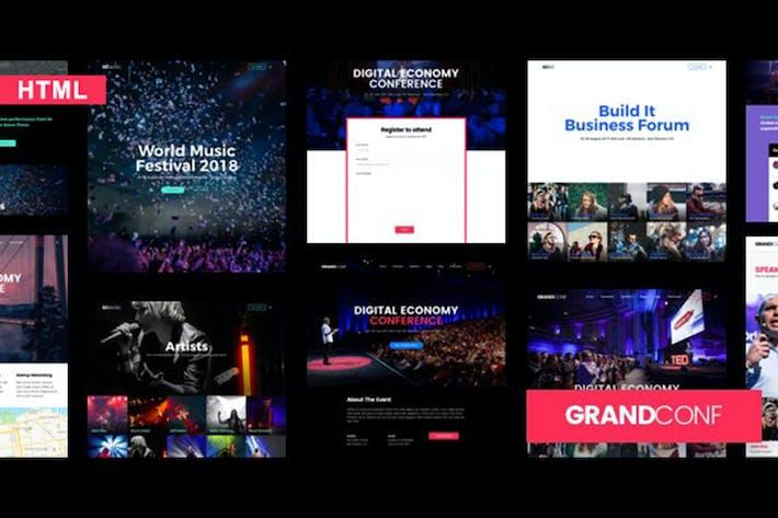 Thumbnail for Grand Conference | Plantilla HTML para eventos