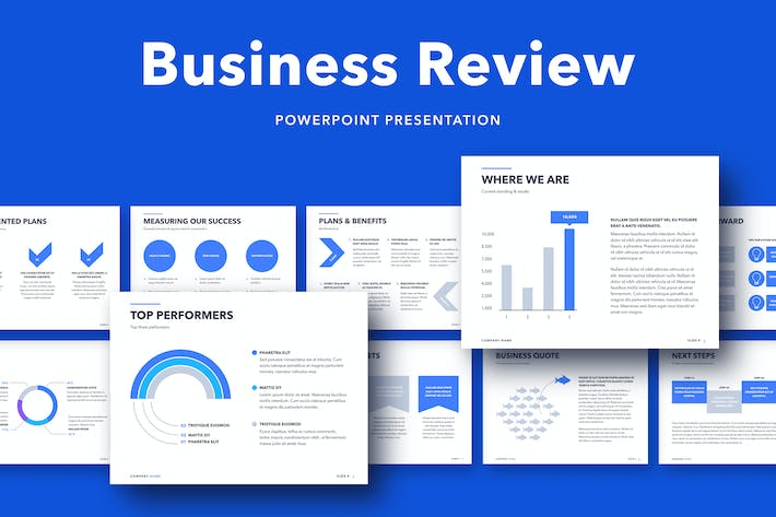 Thumbnail for Business Review PowerPoint Template