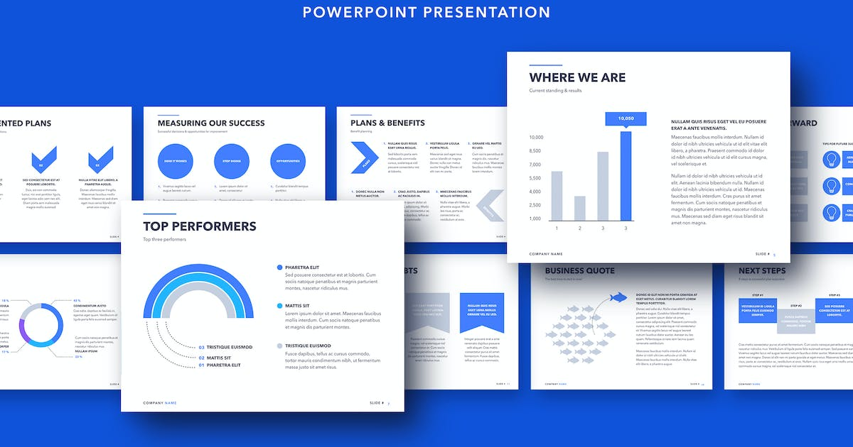 Download Business Review PowerPoint Template by Jumsoft