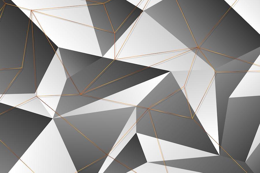 Golden polygonal outline texture background
