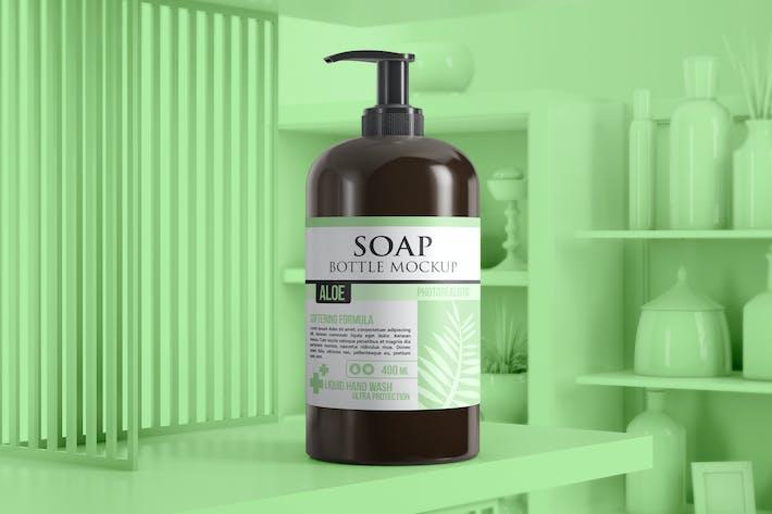 Thumbnail for Soap Bottle Dispenser Mockup