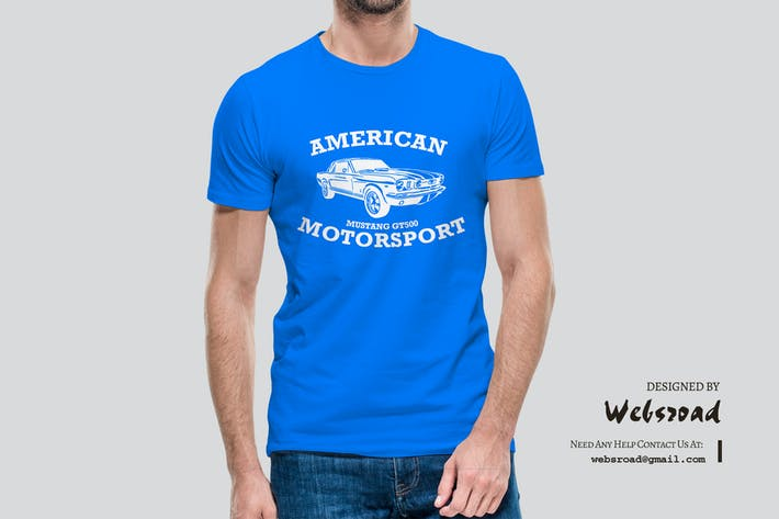 Thumbnail for MotorSport | T-shirt Design Template