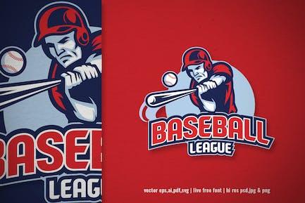 sport logo of baseball league