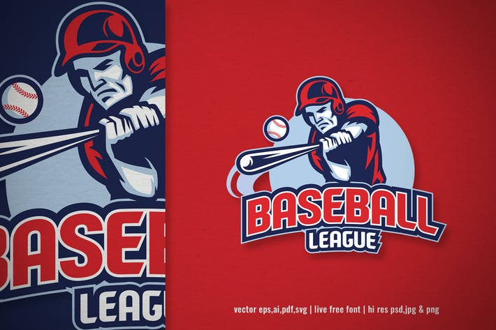 sport logo of baseball league