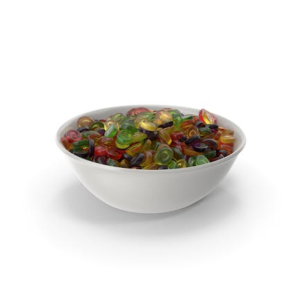 Bowl With Oval Hard Candy