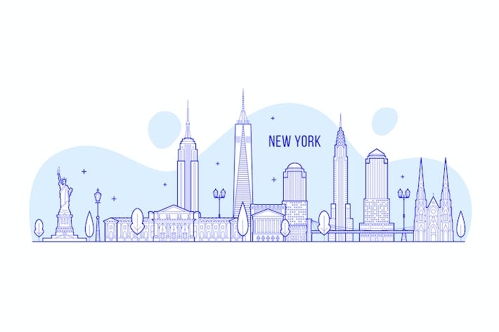 Thumbnail for New York skyline, USA