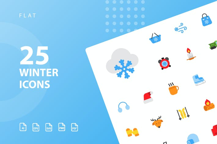 Thumbnail for Winter Flat Icons