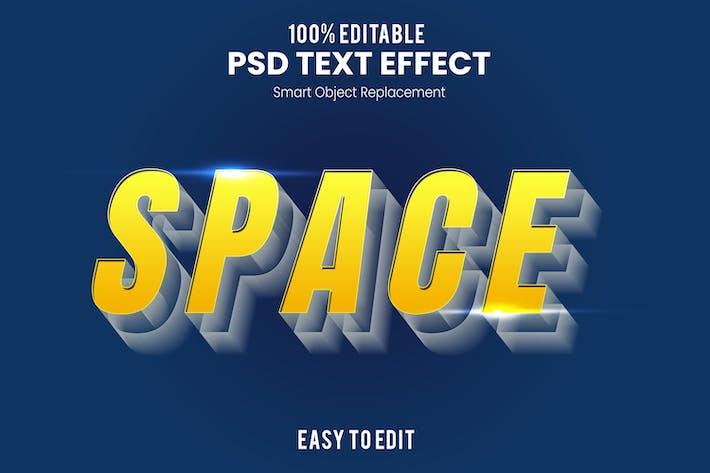 Эффект 3D текста пространства