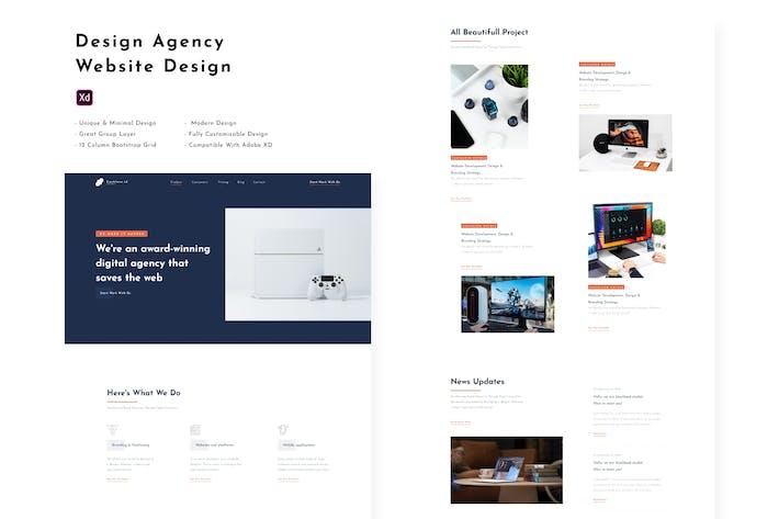 Thumbnail for Design Agency - Web Design Template