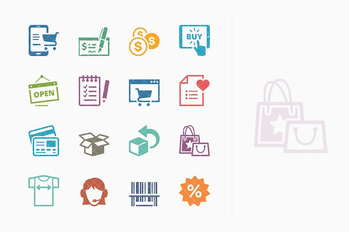 Cover Image For E-commerce Icons Set 3 - Colored Series