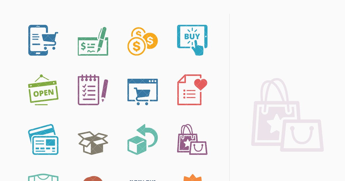 Download E-commerce Icons Set 3 - Colored Series by introwiz1