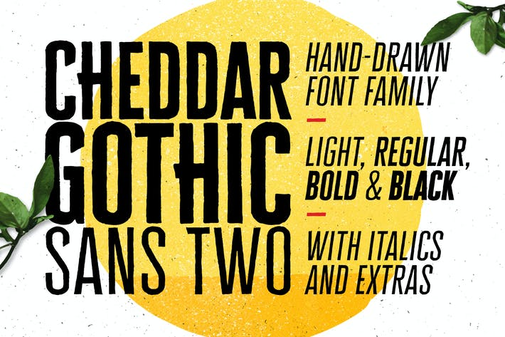 Thumbnail for Cheddar Gothic Sans Two Fonts