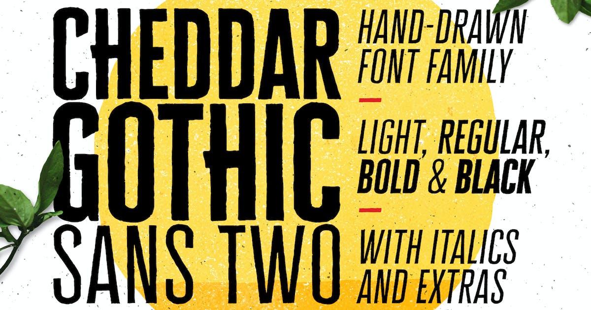 Download Cheddar Gothic Sans Two Fonts by adamladd