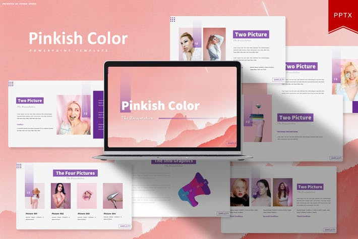 Pinkish Color | Powerpoint Template