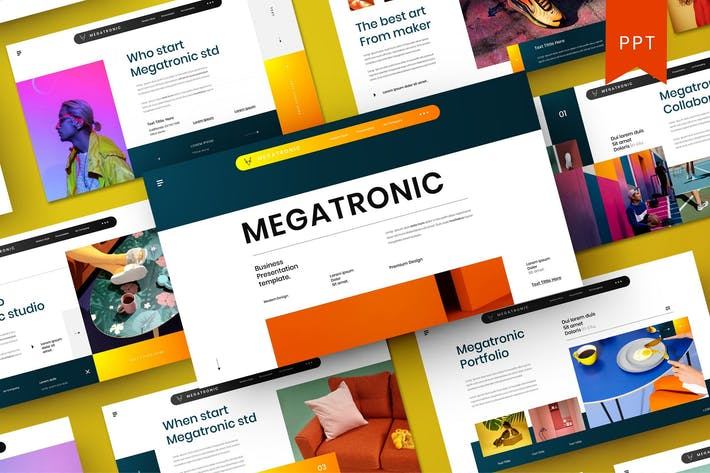 Thumbnail for Megatronic – Business PowerPoint Template