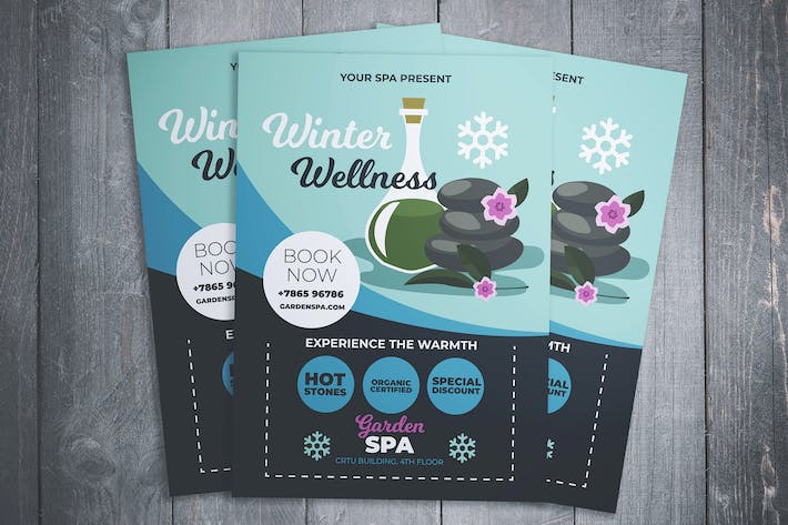 Cover Image For Winter Wellness Spa Flyer