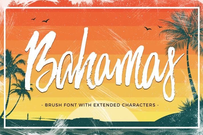 Cover Image For Bahamas Brush Font