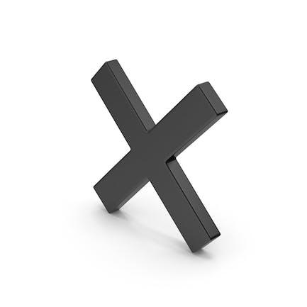 Symbol Schwarz X Mark