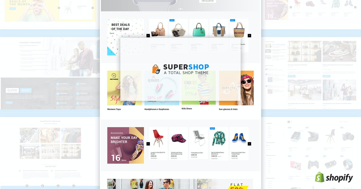 Download Super Shop | Multipurpose, MultiStore Shopify by BuddhaThemes