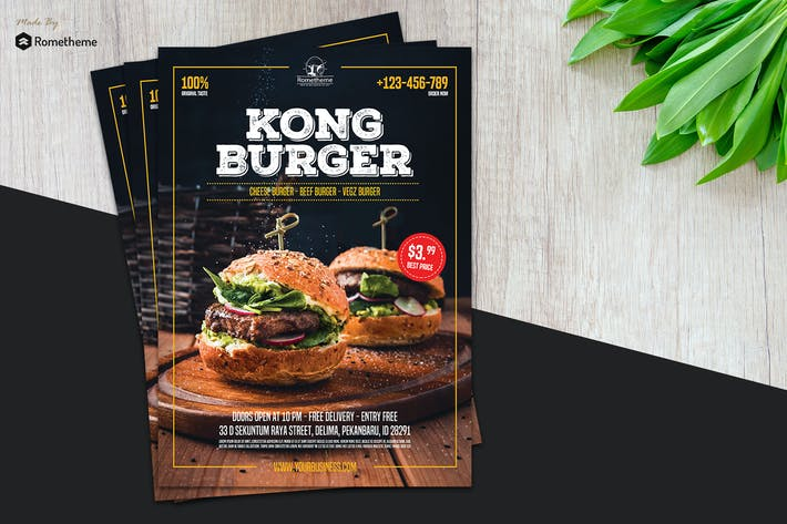Thumbnail for Burger Restaurant Flyer vol.01